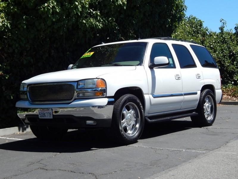 2003 GMC Yukon 4dr 1500 4WD SLT White Tan 124400 miles Stock 237468 VIN 1GKEK13T53R237468