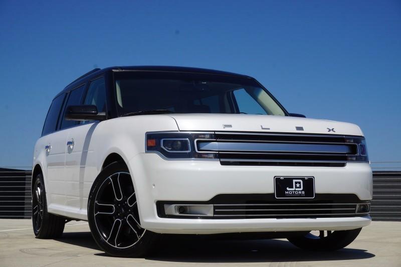 2013 ford flex limited awd w ecoboost 75650 miles white sedan a used ford flex. Black Bedroom Furniture Sets. Home Design Ideas