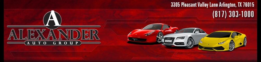 Alexander Auto Group. (817) 303-1000