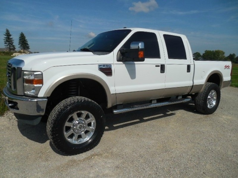 2008 Ford F250 Crew Lariat Diesel 4wd Moon R Cam Lifted