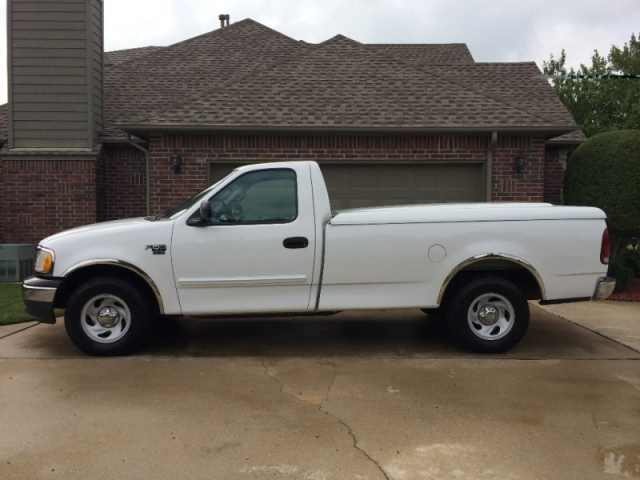 Ford Dealership Okc >> 2000 FORD F-150 XL REGULAR CAB LONG BED TRUCK WHITE ...