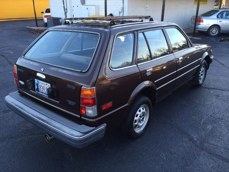 honda civic deluxe wagon brown carfax certified  owners rare hard  find gas saver