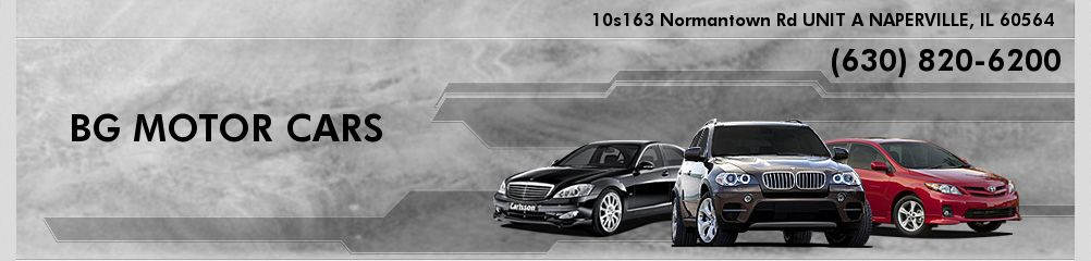 BG MOTOR CARS. (630) 820-6200