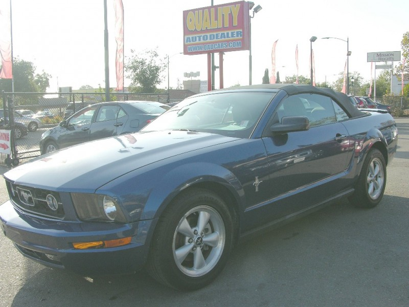 2007 Ford Mustang Blue Gray 68295 miles Stock QAD24855 VIN 1ZVFT84N975324855