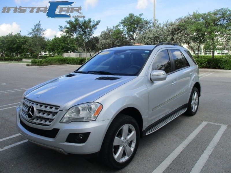 2009 Mercedes ML350 RWD 4dr 35L Very clean in and out Silver Black 91458 miles Stock 509451