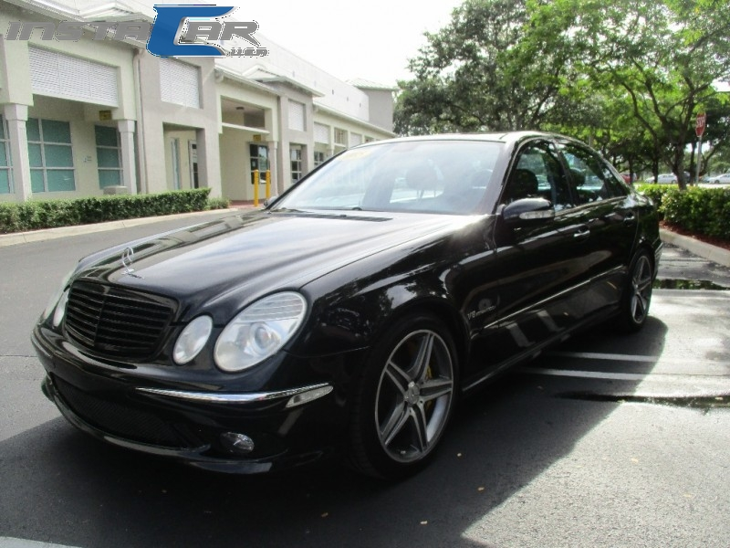 2005 Mercedes E-Class 4dr Sdn 55L AMG Very clean in and out Black Black 137858 miles Stock 6