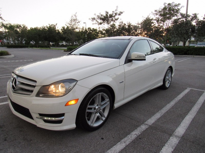 2012 Mercedes C-Class 2dr Cpe C 350 RWD great conditions White Black 78864 miles Stock 7373