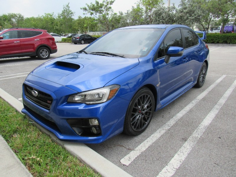 2016 Subaru WRX STI 4dr Sdn Blue Black 29070 miles Stock 806518 VIN JF1VA2M61G9806518