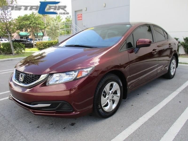 2014 Honda Civic Sedan 4dr CVT LX Burgundy Beige 60170 miles Stock 027209 VIN 19XFB2F53EE