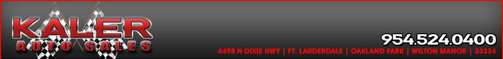 Kaler Auto Sales. (954) 524-0400