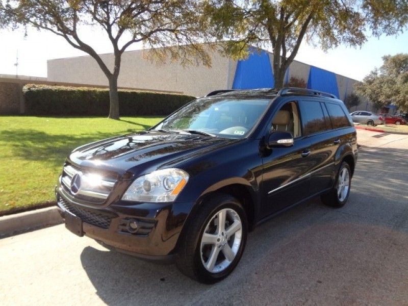 2007 Mercedes GL-Class 4MATIC 4dr 47L WWWDALLASPREOWNEDCOM Black Tan 75215 miles Stock 1260