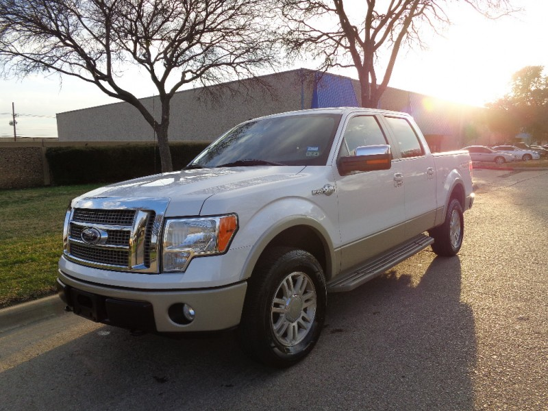 2010 Ford F-150 KING RANCH 4WD SuperCrew 145 White Brown 65500 miles Stock C33584 VIN 1FTF