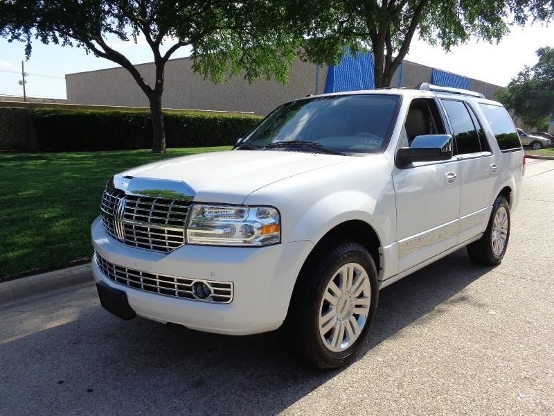 2012 Lincoln Navigator 2WD 4dr WWWDALLASPREOWNEDCOM White Tan 53245 miles Stock L04078 VIN