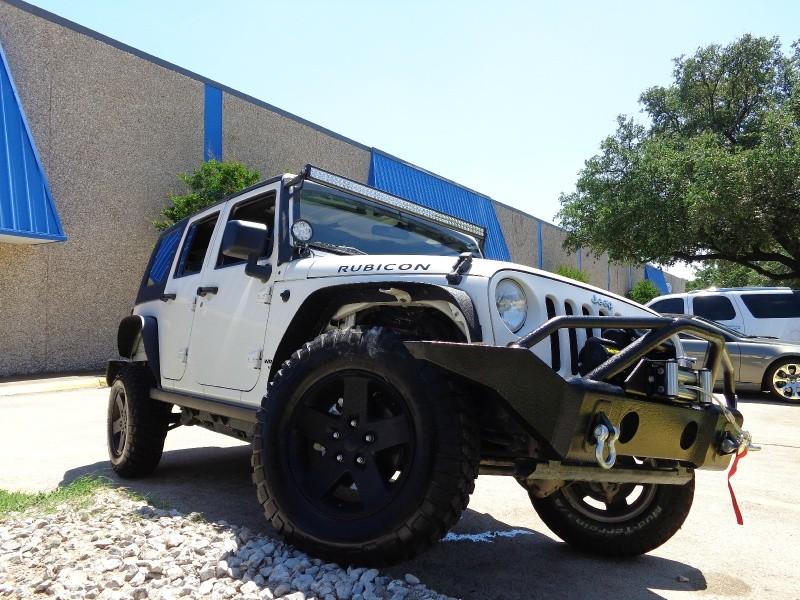 2008 Jeep Wrangler 4WD 4dr Unlimited Rubicon WWWDALLASPREOWNEDCOM White Black 80745 miles Sto