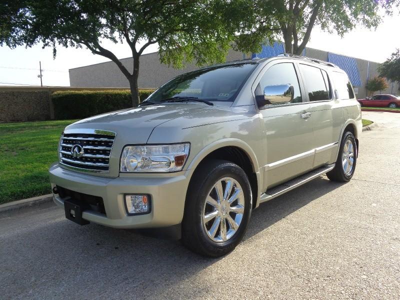 2009 Infiniti QX56 4WD 4dr WWWDALLASPREOWNEDCOM Gold Tan 90340 miles Stock 901276 VIN 5N3A