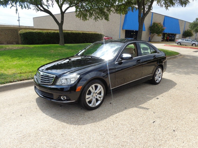 2008 Mercedes C-Class WWWDALLASPREOWNEDCOM Black Brown 72909 miles Stock 016783 VIN WDDGF54