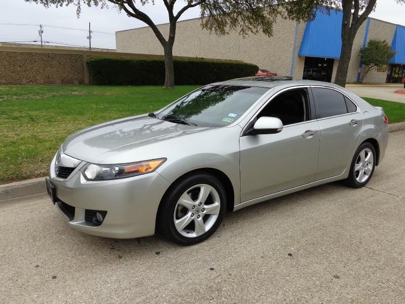 2009 Acura TSX 4dr Sdn Auto WWWDALLASPREOWNEDCOM Silver Black 110541 miles Stock 000733 VIN