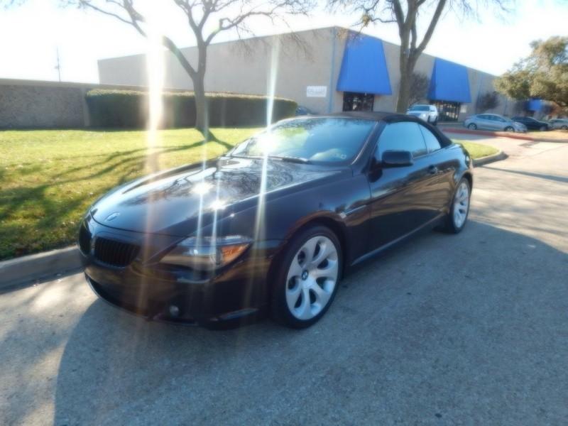 2007 BMW 6 Series 2dr Conv 650i Black Black 89600 miles Stock N82554 VIN WBAEK13597CN82554