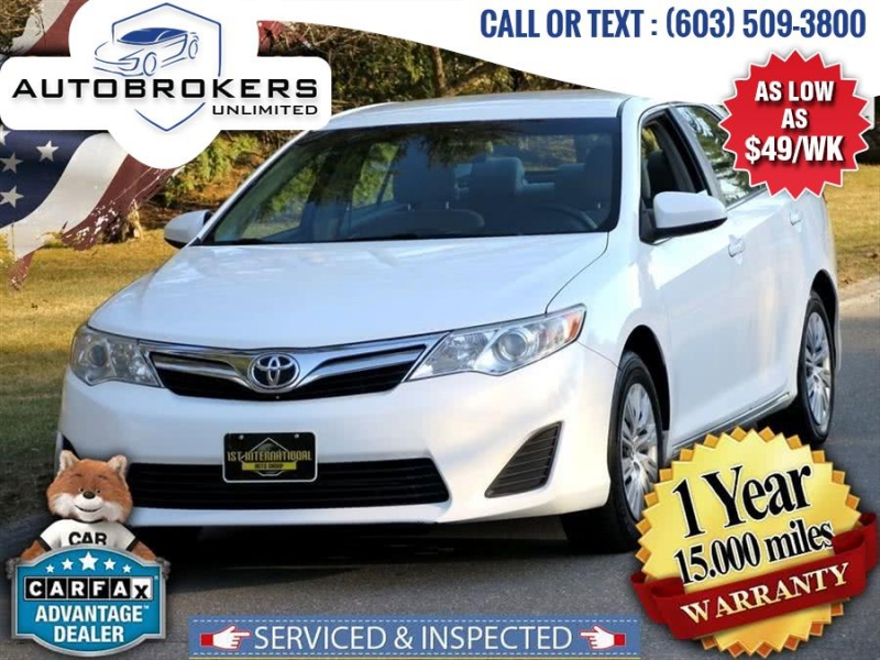 2014 toyota camry le sedan 4d cars - derry, nh at geebo