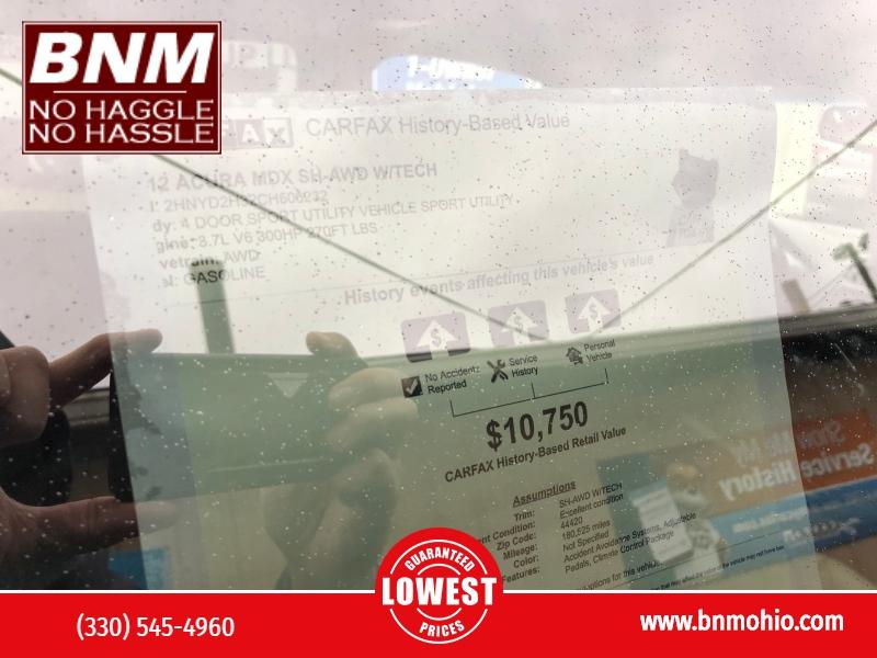 Acura MDX 2012 price $8,500