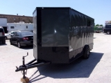 Deep South Trailers 7X14 ENCLOSED BLACK WHEELS 2018