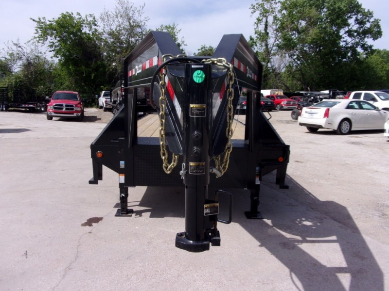 Delco Trailers 25X102' GOOSENECK DOVETAIL MONSTER RAMPS 2019 price $7,195