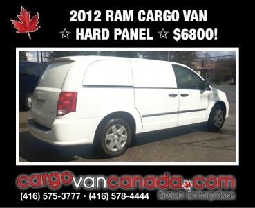 2012 RAM CARGO VAN * HARD PANEL* EQUiPPED* from $68OO!