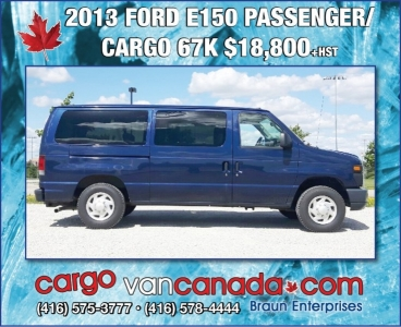 2013 FORD E150 PASSENGER / CARGO 67K $18,8OO!