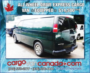 "2009 EXPRESS ""ALL WHEEL DRIVE"" CARGO w/SHELF SYSTEM $14,500"