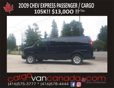 2009 Express PASSENGER / CARGO 105Kms!  $13,000!