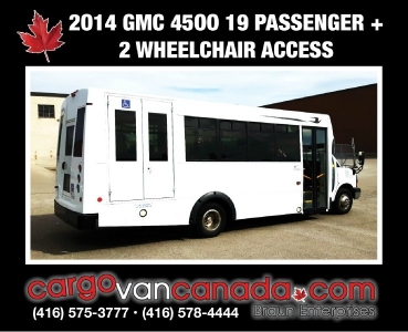 2014 GMC Savana HANDICAP BUS 4500 Van 19 PASSENGER & 2 WHEEL CHAIR