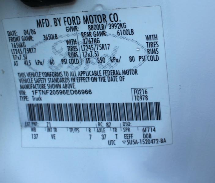 Ford Super Duty F-250 2006 price
