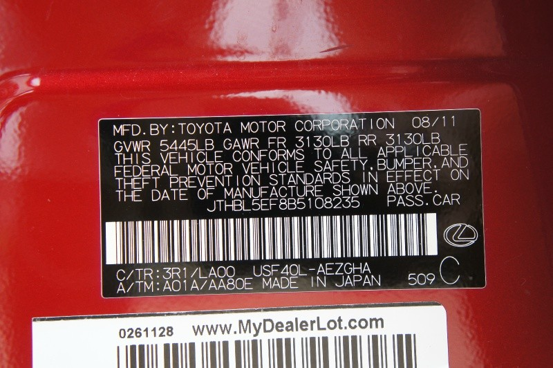 Lexus LS 2011 price $13,900