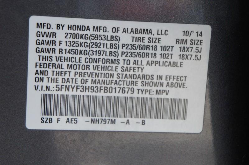 Honda Pilot 2015 price $16,900