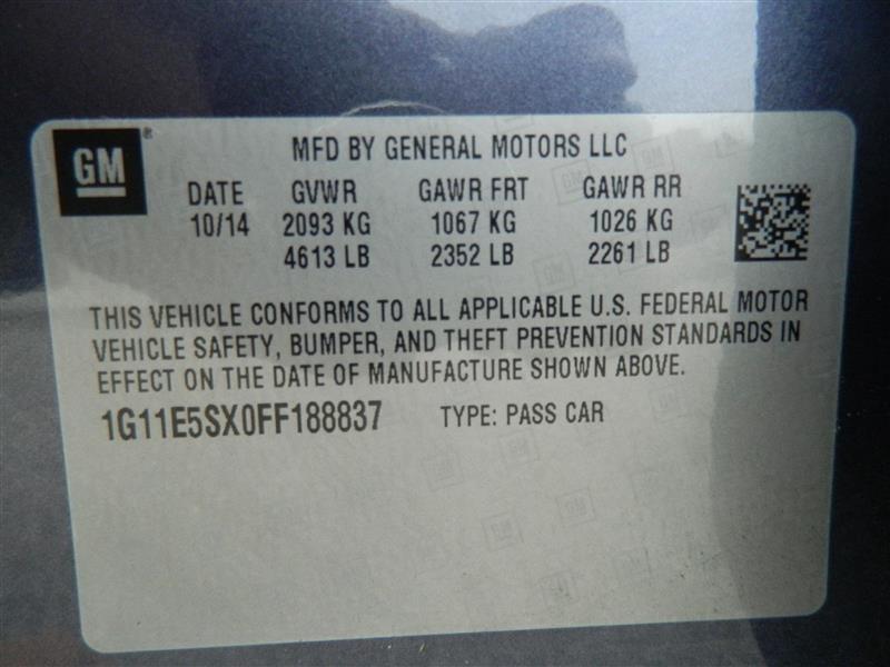 Chevrolet Malibu 2015 price $14,960