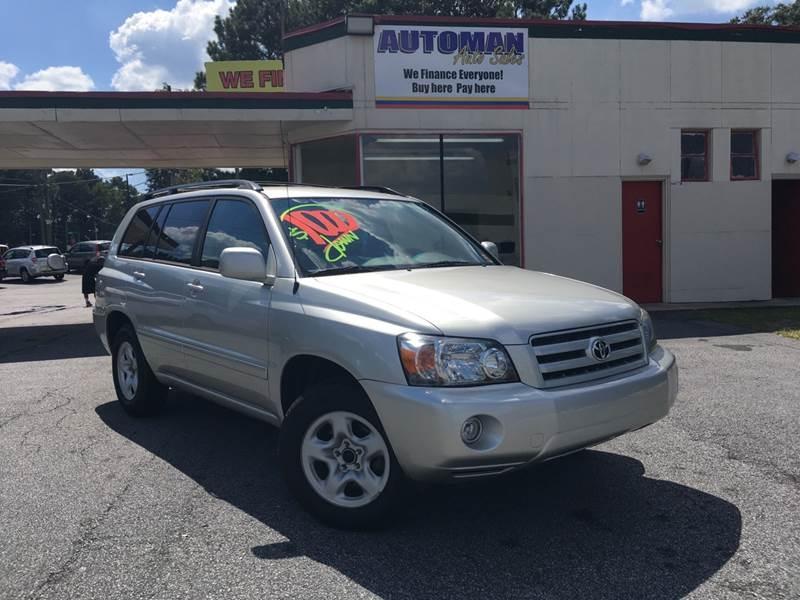 Toyota Highlander 2006 price $6,900