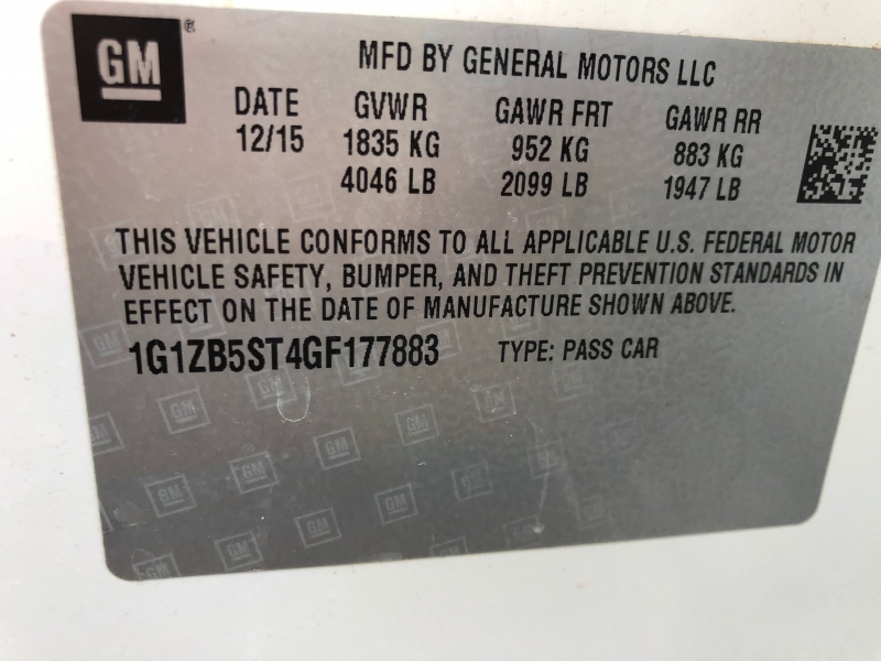 Chevrolet Malibu 2016 price $10,690