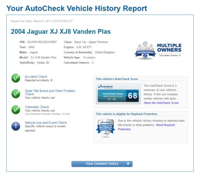 Jaguar XJ 2004 price