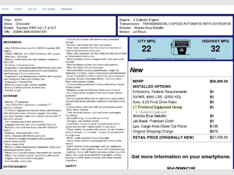 CHEVROLET EQUINOX 2014 price $10,600