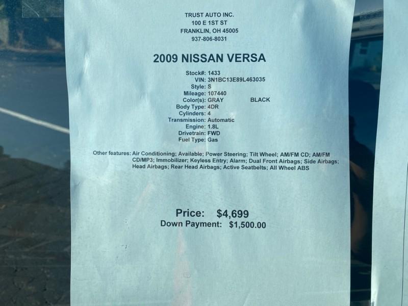 NISSAN VERSA 2009 price $4,699