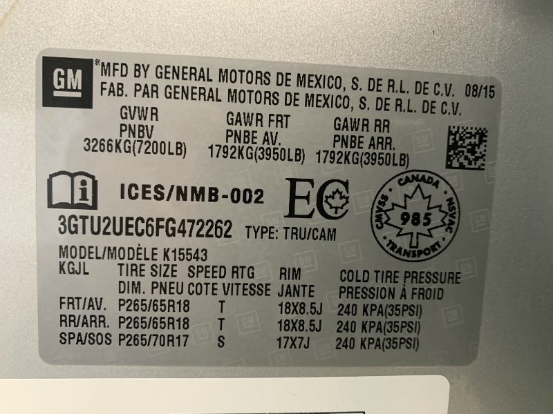 GMC Sierra 1500 2015 price $22,888
