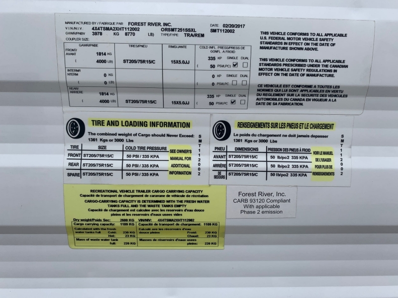 FRRV SaLEM CRUISE 2017 price $17,900