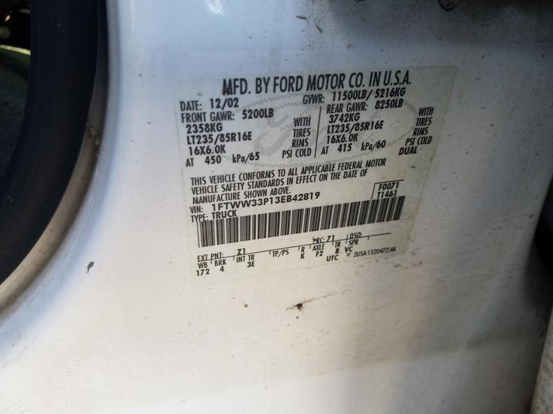 Ford F-350 Super Duty 2003 price $14,995
