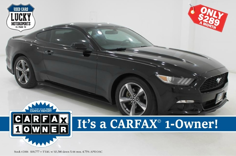 Ford MUSTANG 2016 price $18,777