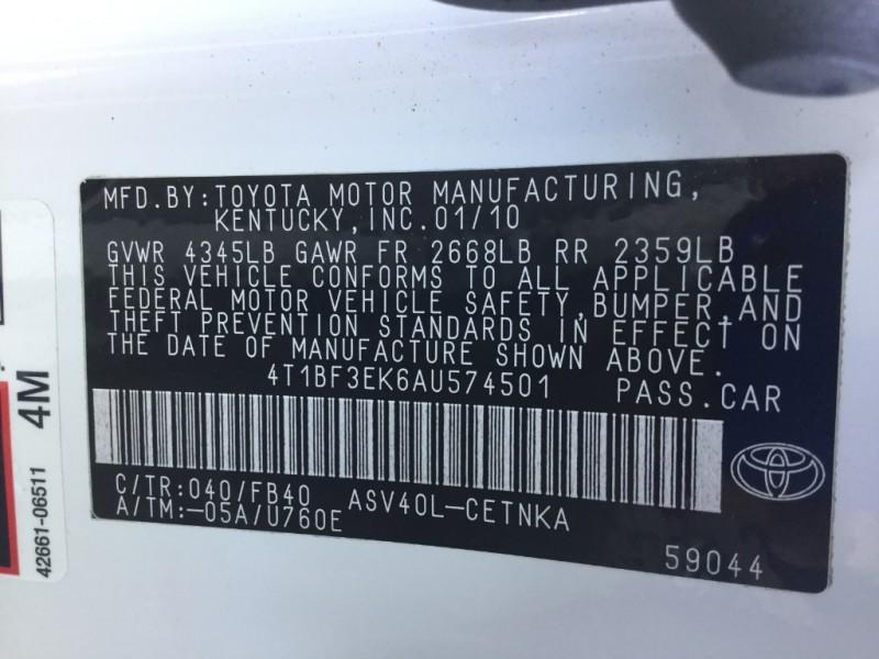 Toyota Camry 2010 price $8,995