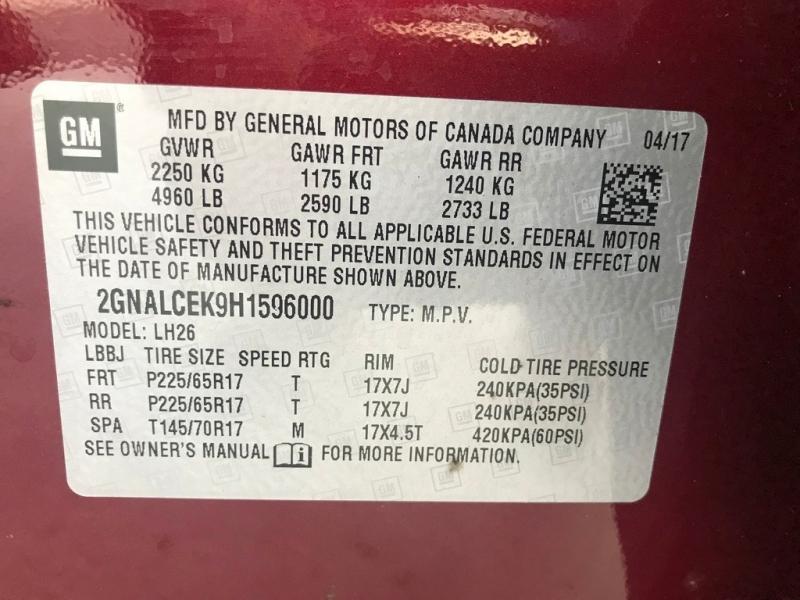 Chevrolet Equinox 2017 price $17,299