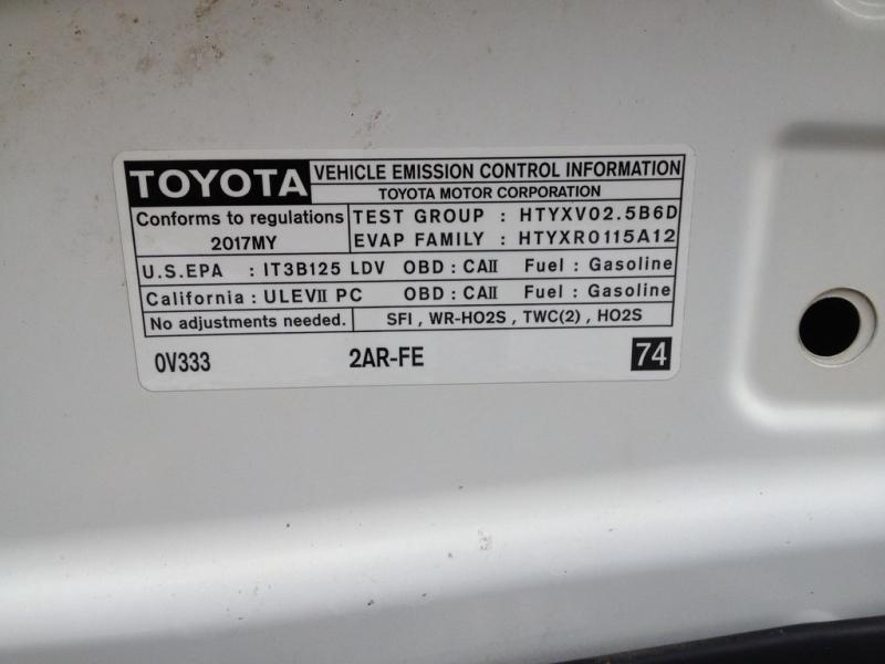 Toyota Camry 2017 price $13,499