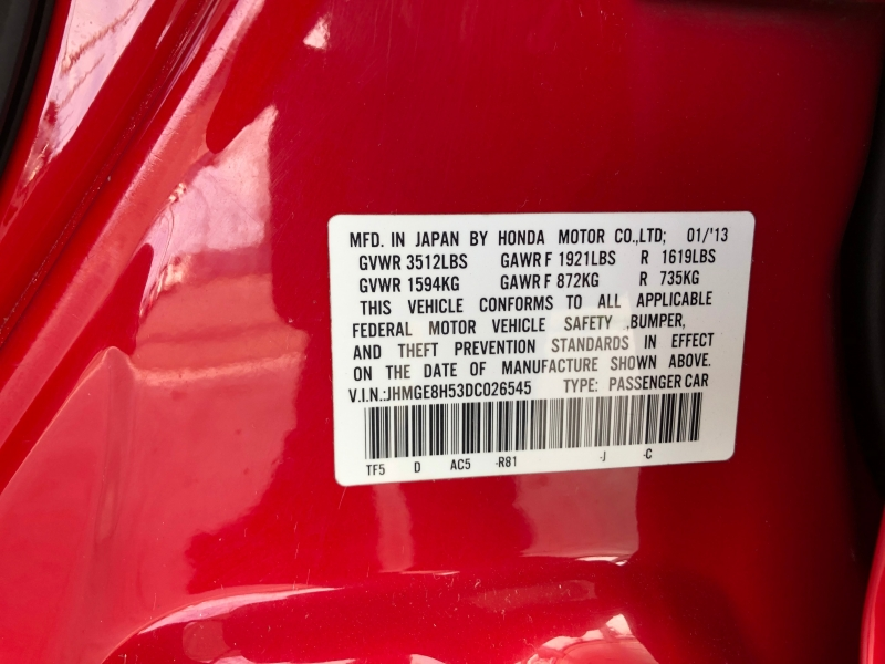 Honda Fit 2013 price $6,995