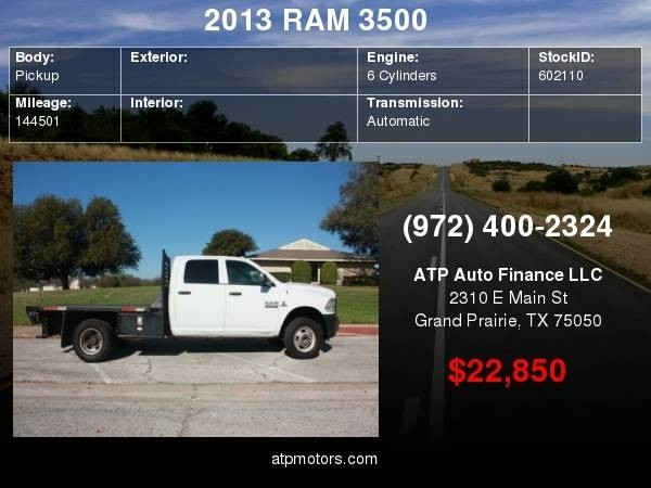 RAM 3500 2013 price $22,850