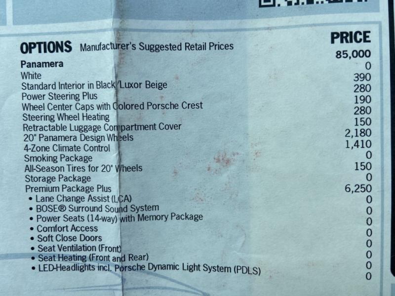 PORSCHE PANAMERA 2018 price $67,995